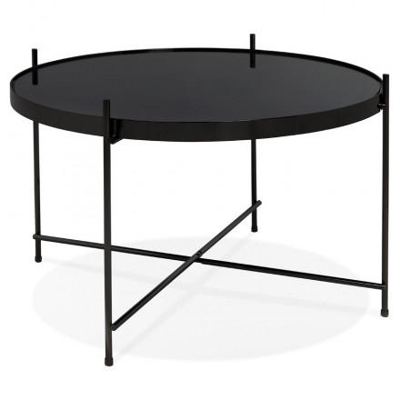 Design Couchtisch, RYANA MEDIUM Beistelltisch (schwarz)