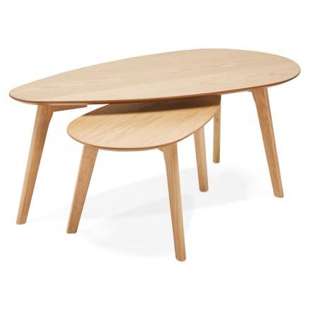 RAMON tavoli da disegno in legno ovale (finitura naturale)