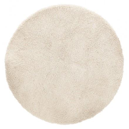 Alfombra de diseño redondo (160 cm) SABRINA (beige)