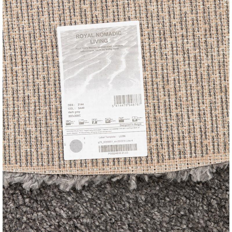 Tapis design rond (Ø 160 cm) SABRINA (gris foncé) - image 48576