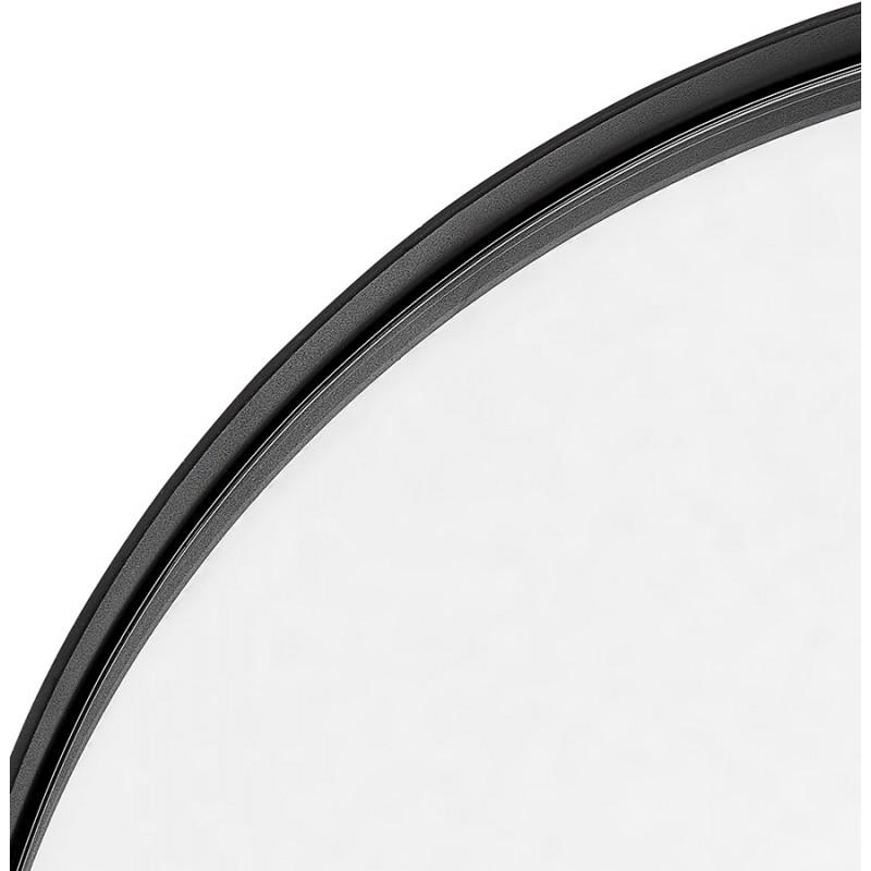 Metal round design mirror (60.5 cm) PRISKA (black) - image 48601