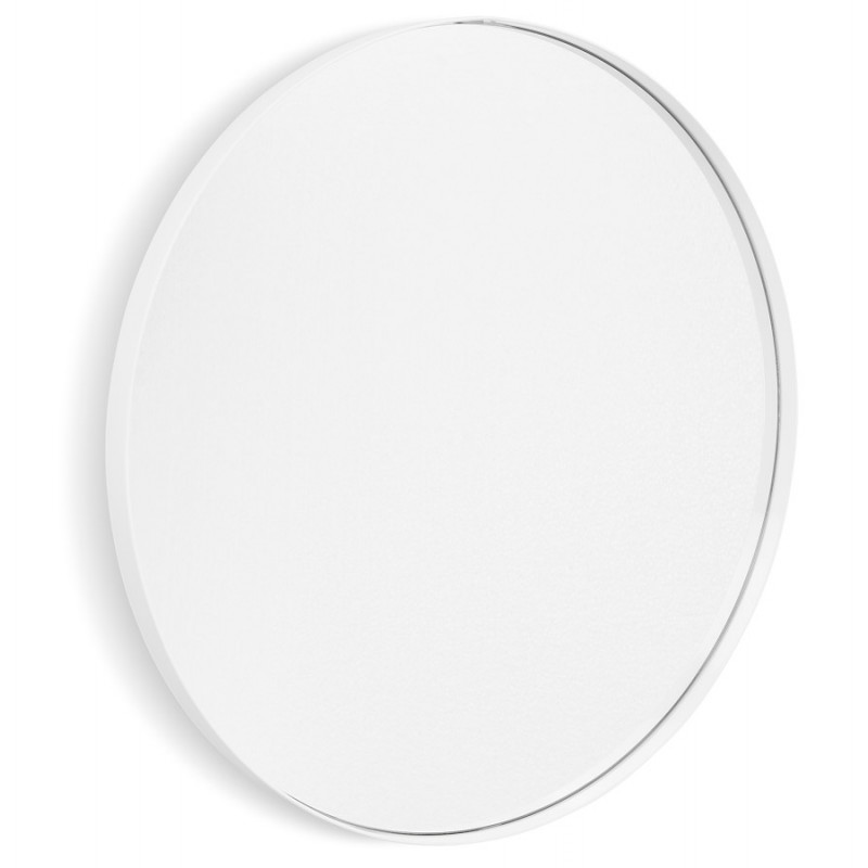 Metal round design mirror (60.5 cm) PRISKA (white) - image 48604
