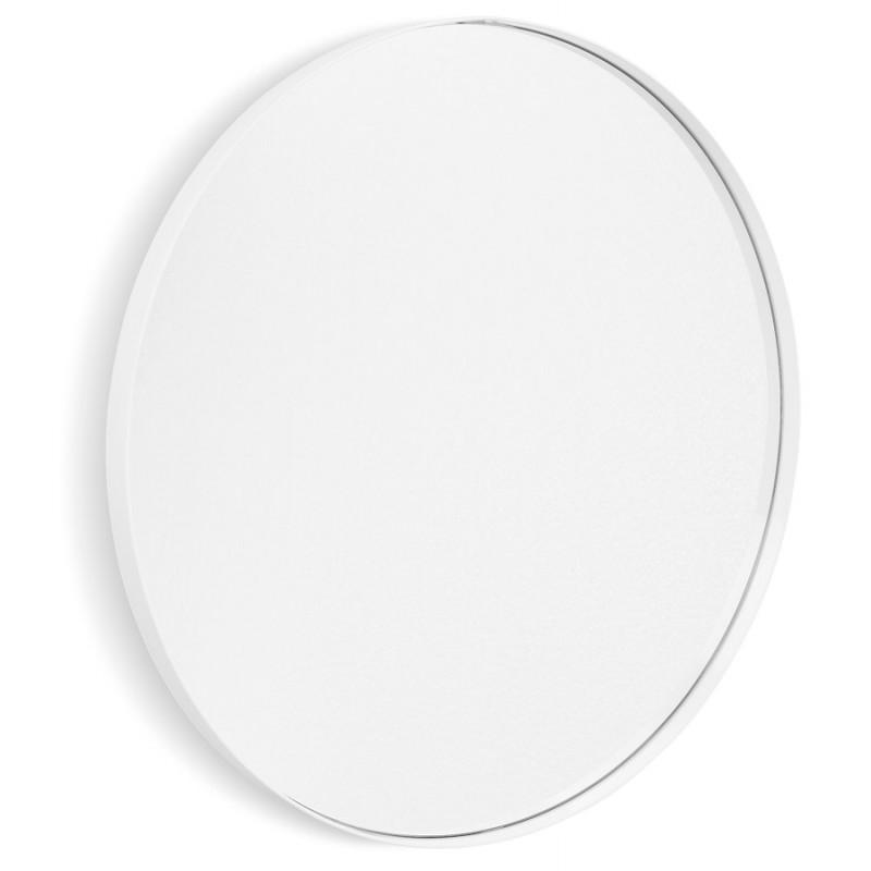 Metall rund DesignSpiegel (60,5 cm) PRISKA (weiß)