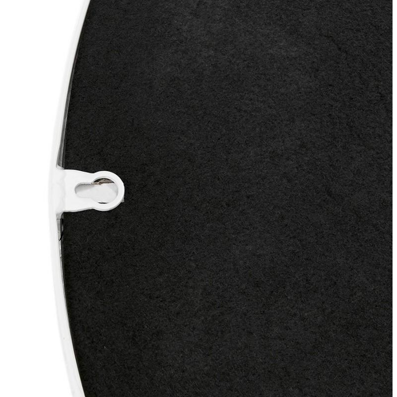 Metal round design mirror (60.5 cm) PRISKA (white) - image 48609