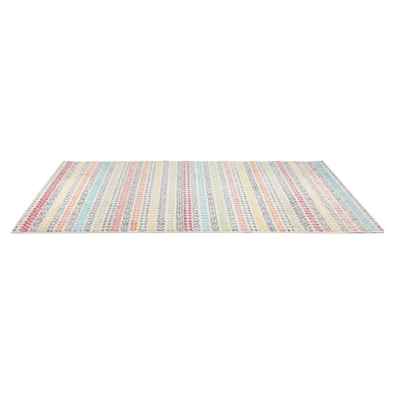 Tapis graphique rectangulaire - 160x230 cm - SELINA (multicolore) - image 48635