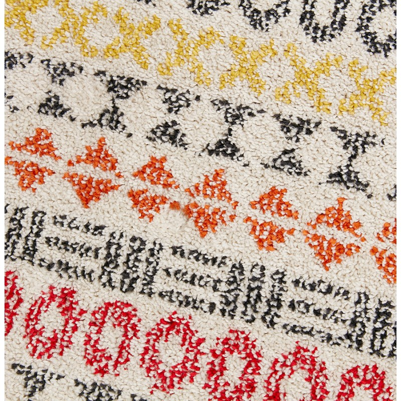 Tapis graphique rectangulaire - 160x230 cm - SELINA (multicolore) - image 48640