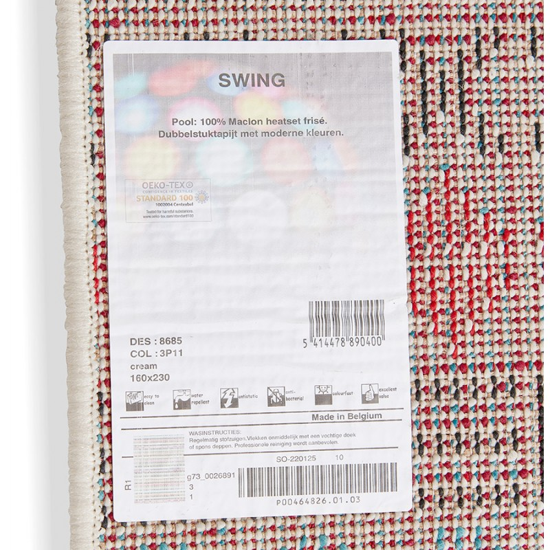 Tapis graphique rectangulaire - 160x230 cm - SELINA (multicolore) - image 48643