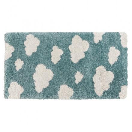 Tappeto rettangolare per bambini - 80x150 cm - NUAGE (blu, beige)