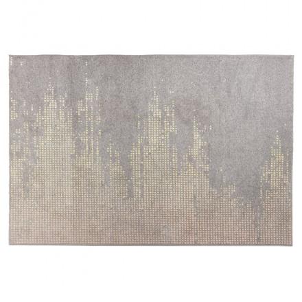 Tappeto di design rettangolare - 160x230 cm - YOELA (grigio, giallo)