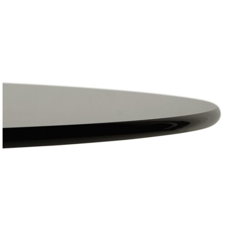 Mesa redonda de vidrio y mesa de comedor metálica (120 cm) URIELLE (negro) - image 48749