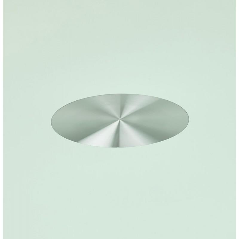 Runder Esstisch aus Glas und Metall (120 cm) URIELLE (weiß) - image 48758