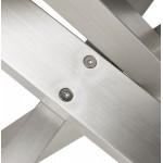 Table à manger design en verre et métal (200x100 cm) WHITNEY (noir)