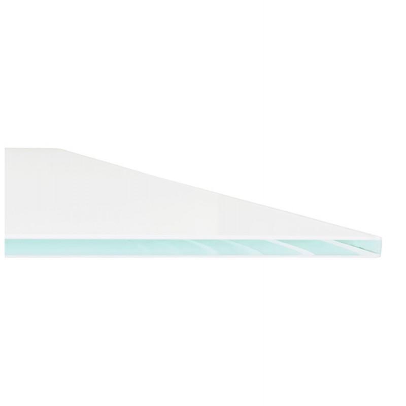 Table à manger designen verre et métal blanc (200x100 cm) WHITNEY (blanc) - image 48850