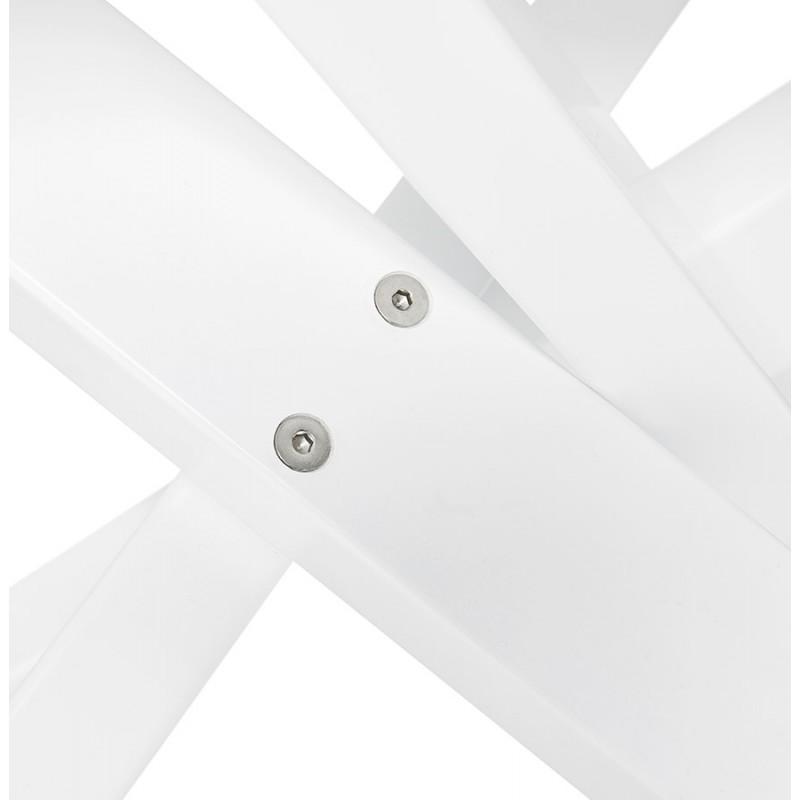 Table à manger designen céramique et métal blanc (180x90 cm) FLORINA (blanc) - image 48864