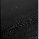 Mesa de comedor de diseño de madera y metal blanco (200x100 cm) CATHALINA (negro)
