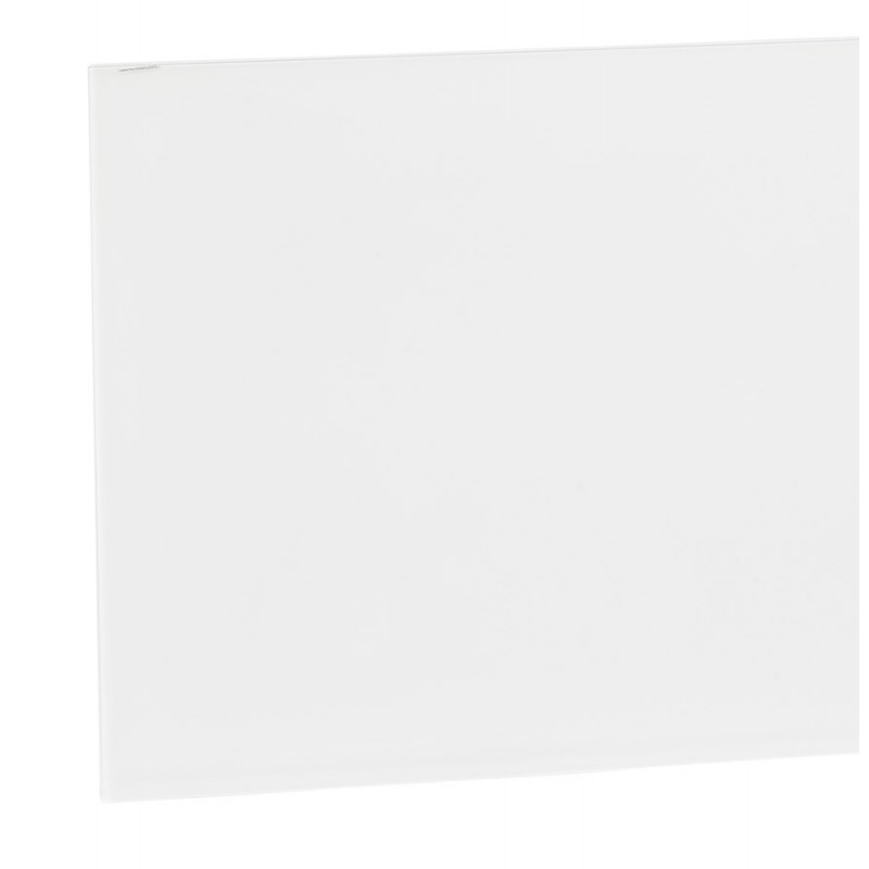 Mesa de comedor de diseño de vidrio y metal negro (200x100 cm) WHITNEY (blanco) - image 48905