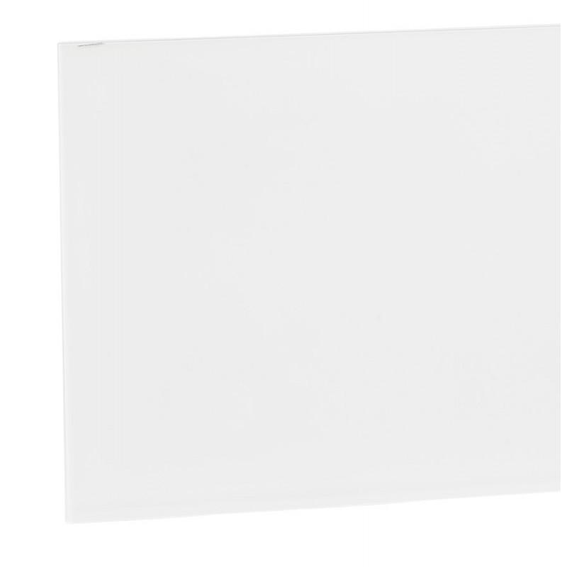 Table à manger design en verre et métal noir (200x100 cm) WHITNEY (blanc) - image 48905