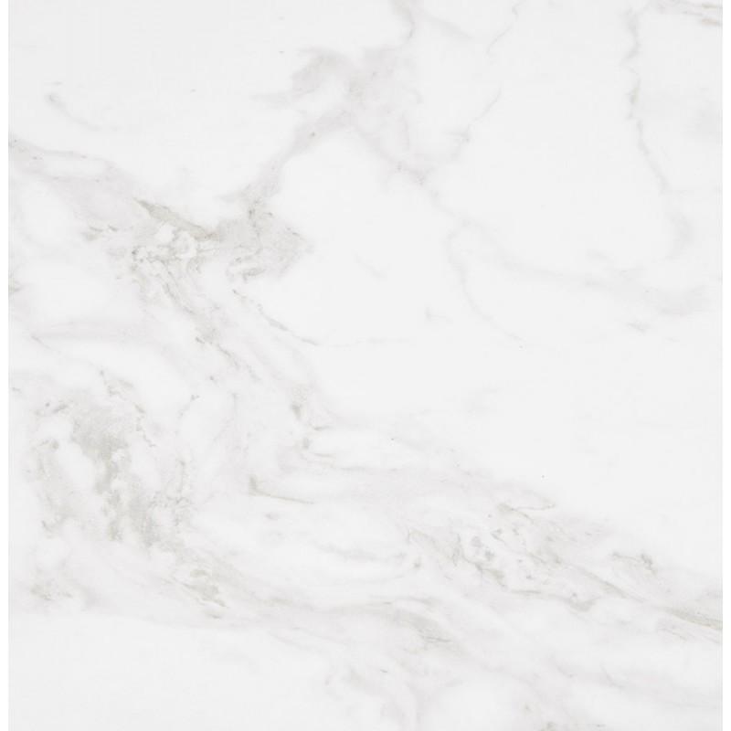 Table à manger design en céramique et métal noir (180x90 cm) FLORINA (blanc) - image 48918