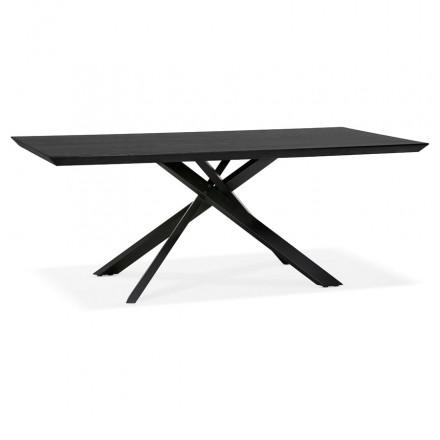 Esstisch aus Holz und schwarz Metall (200x100 cm) CATHALINA (schwarz)
