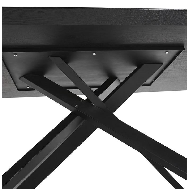 Esstisch aus Holz und schwarz Metall (200x100 cm) CATHALINA (schwarz) - image 48949