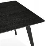Design Esstisch oder Holztisch (180x90 cm) ZUMBA (schwarz)