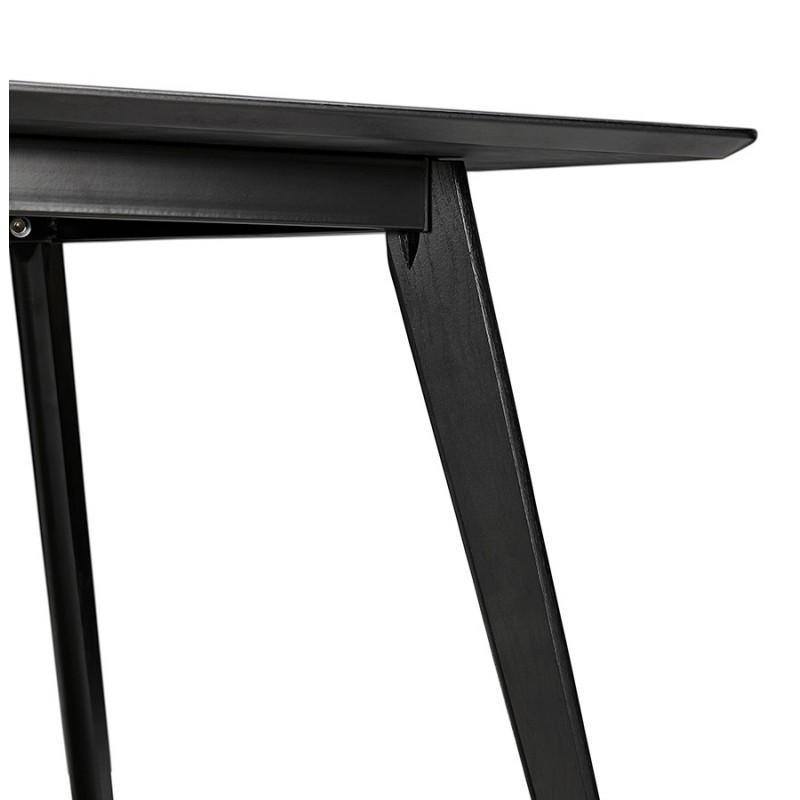 Table à manger design ou bureau en bois (180x90 cm) ZUMBA (noir) - image 48960