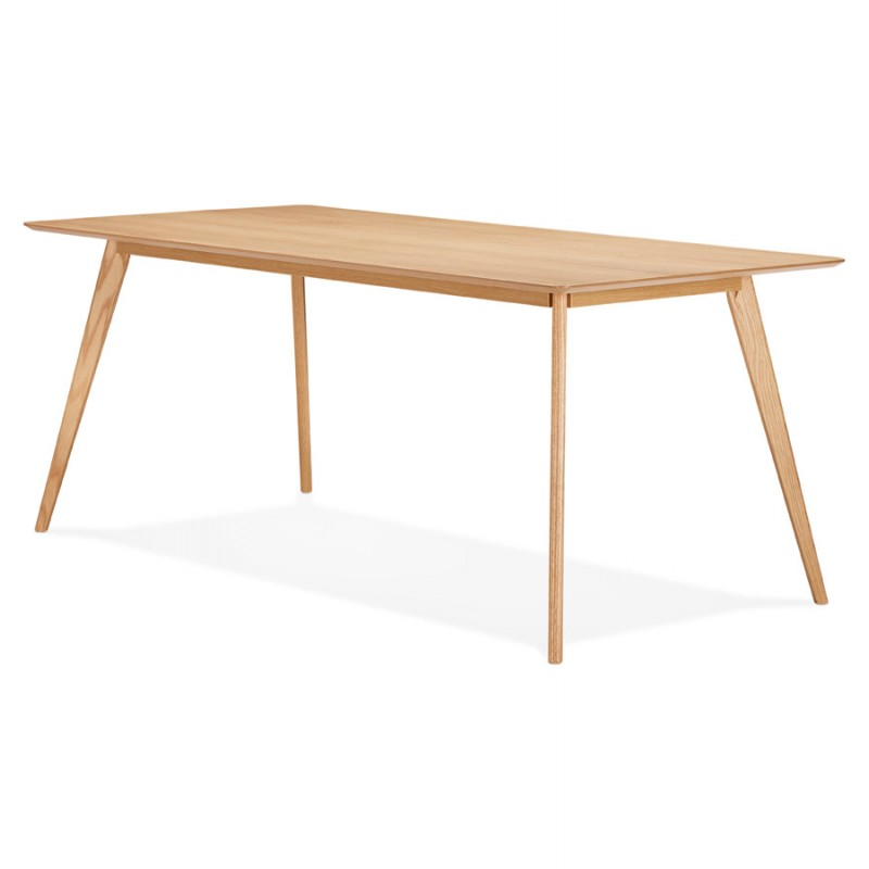 Mesa o escritorio de diseño de madera de estilo escandinavo (180x90 cm) ZUMBA (natural) - image 48967