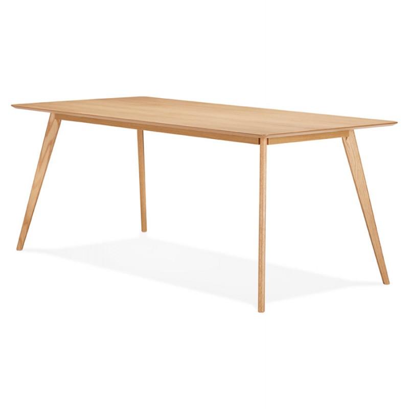 Table à manger design ou bureau style scandinave en bois (180x90 cm) ZUMBA (naturel) - image 48967