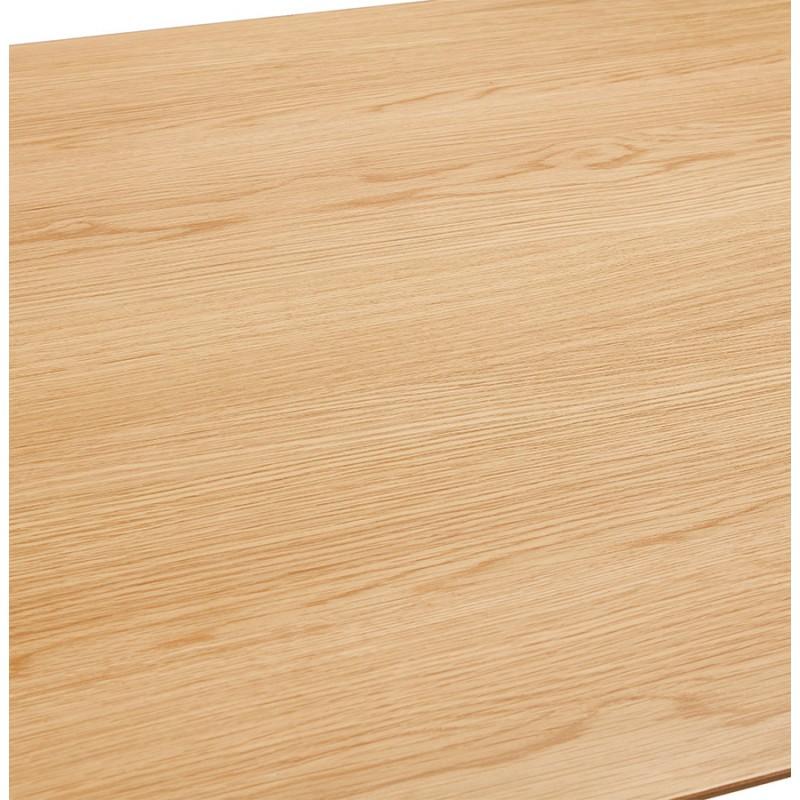 Table à manger design ou bureau style scandinave en bois (180x90 cm) ZUMBA (naturel) - image 48969
