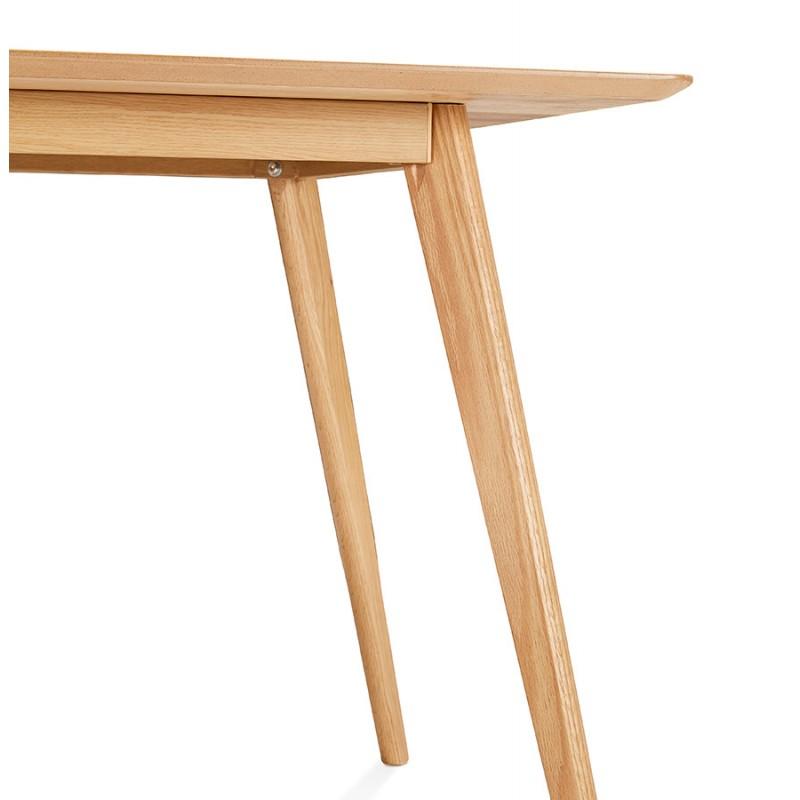 Mesa o escritorio de diseño de madera de estilo escandinavo (180x90 cm) ZUMBA (natural) - image 48971