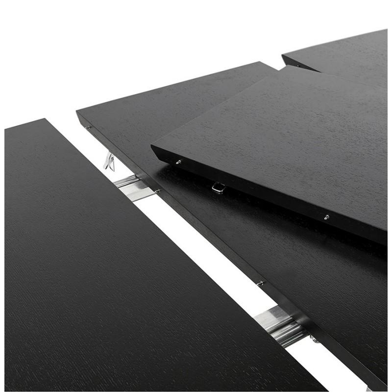 Ausziehbarer Esstisch aus Holz und Chromfüße (170/270cmx100cm) RINBO (schwarz) - image 49029