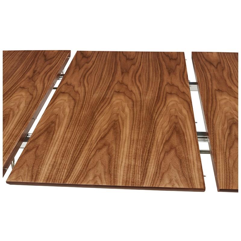 Ausziehbarer Esstisch aus Holz und schwarze Füße (170/270cmx100cm) LOANA (drowning) - image 49044