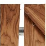 Ausziehbarer Esstisch aus Holz und schwarze Füße (170/270cmx100cm) LOANA (drowning)
