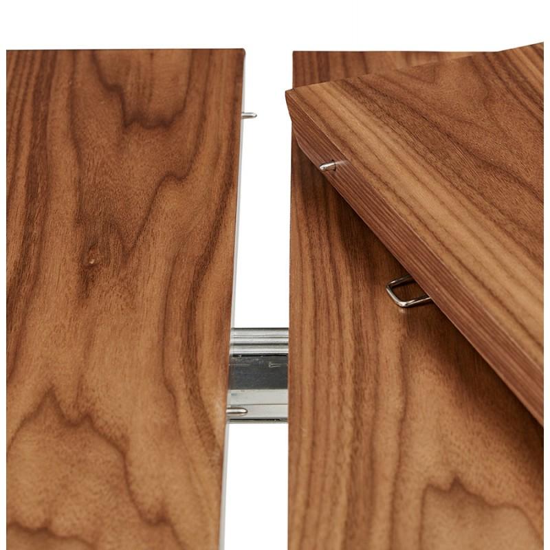 Ausziehbarer Esstisch aus Holz und schwarze Füße (170/270cmx100cm) LOANA (drowning) - image 49047