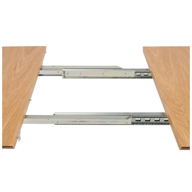 Table à manger extensible en bois et pieds chromé (170/270cmx100cm) RINBO (finition naturelle) - image 49054