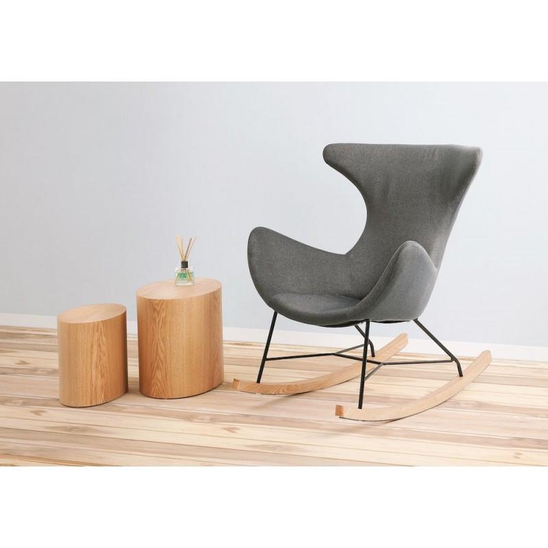 Juego de 2 mesas laterales de diseño de madera RUSSEL (acabado natural) - image 49094