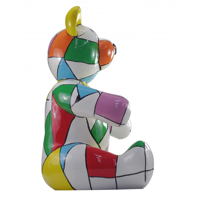 Statue sculpture decorative design Teddy bear resin H100 cm (multicolor) - image 49120