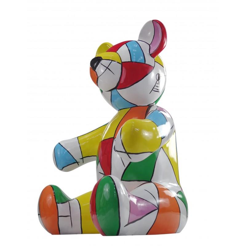 Statue sculpture decorative design Teddy bear resin H100 cm (multicolor) - image 49122