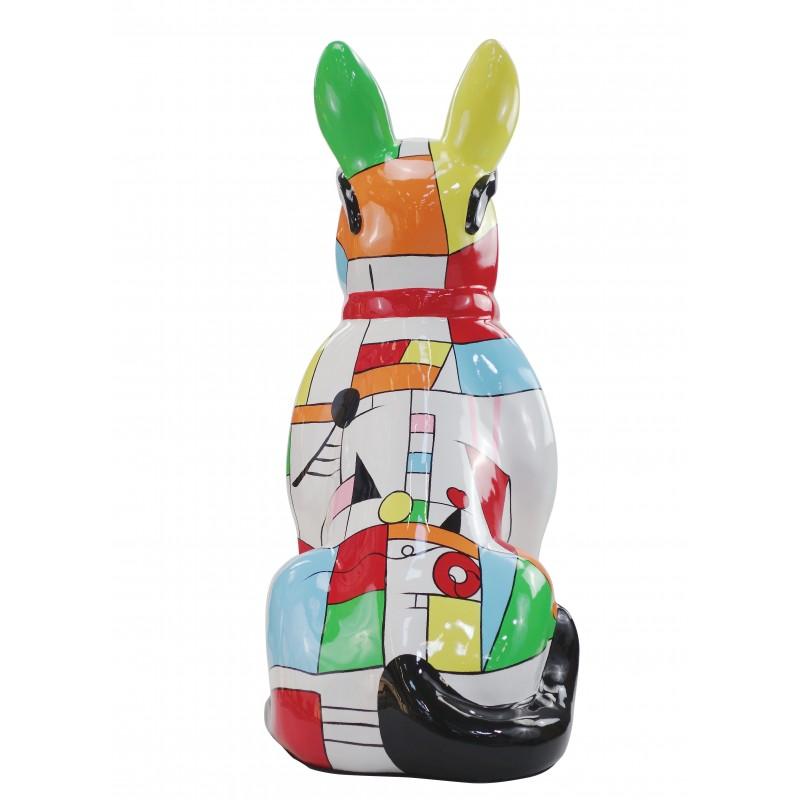 Perro de diseño decorativo de la escultura de resina estatua permanente H102 (multicolor) - image 49166