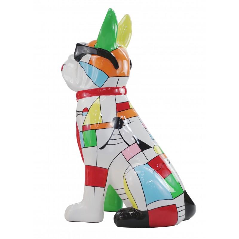 Perro de diseño decorativo de la escultura de resina estatua permanente H102 (multicolor) - image 49167