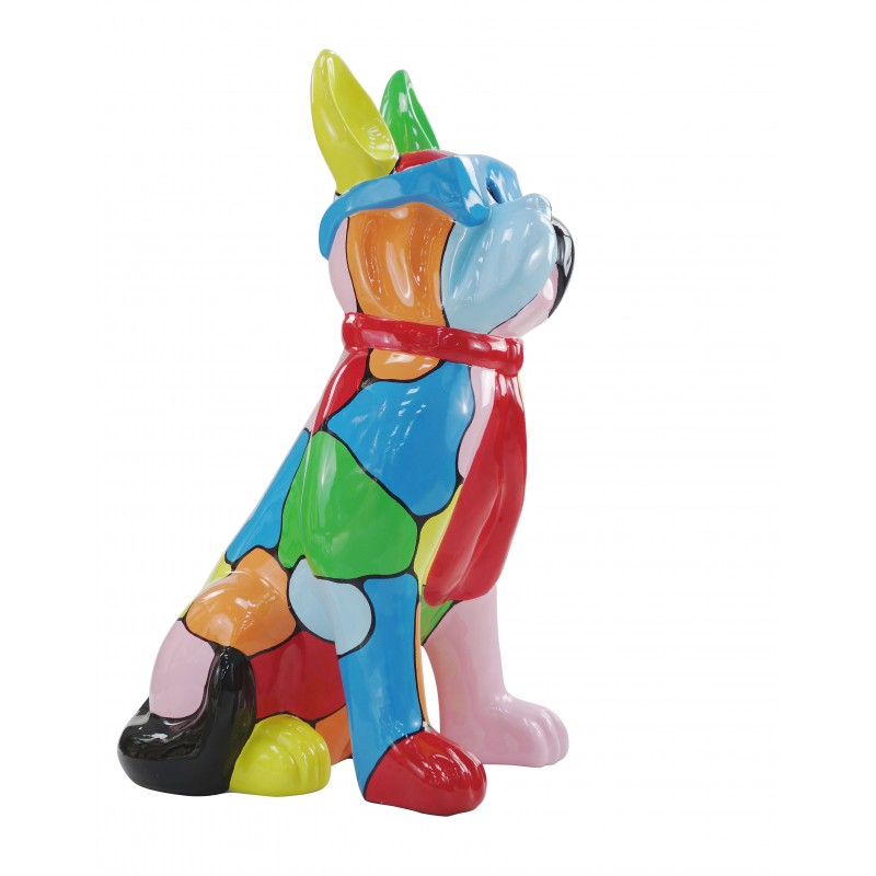 Resin statue sculpture decorative design dog A glasses standing H102 (multicolor) - image 49172