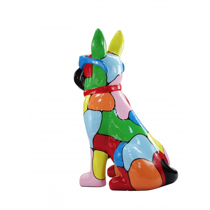 Resin statue sculpture decorative design dog A glasses standing H102 (multicolor) - image 49175