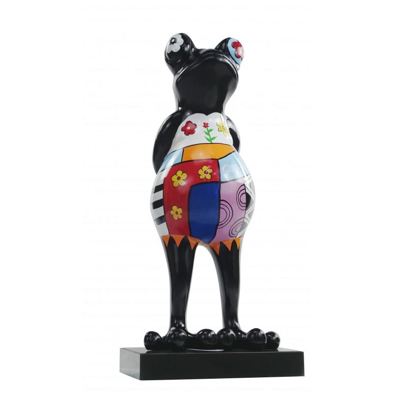 Statue design decorative sculpture frog PSYCHEDELIC resin H68 (multicolor) - image 49179