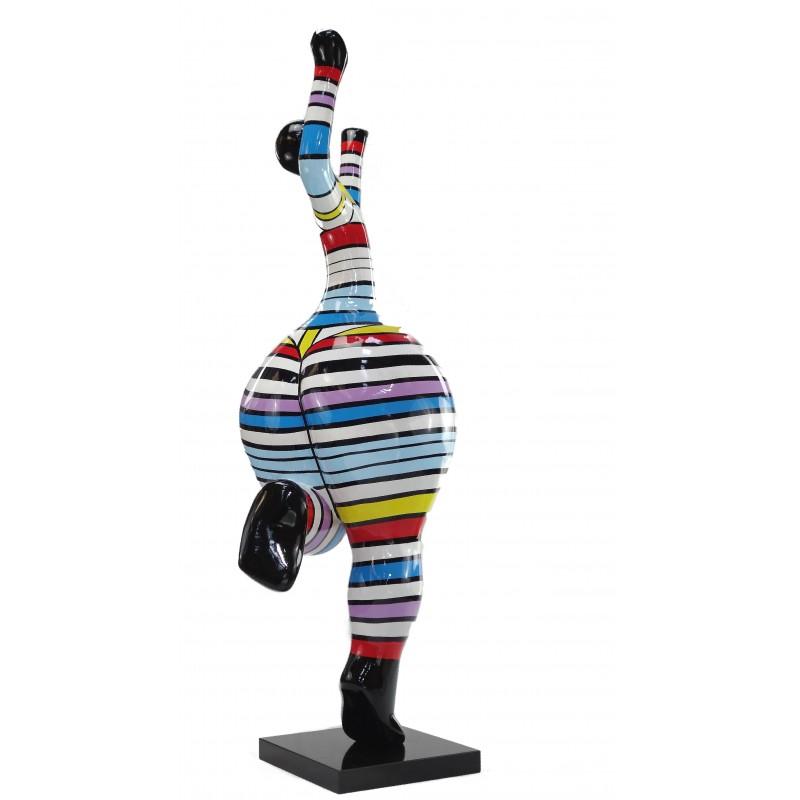 Bailarina de mujer estatuilla diseño decorativo de la escultura en resina (multicolor) - image 49215