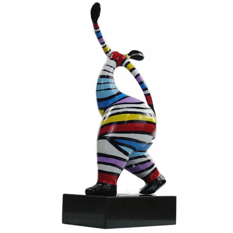 Statuette design decorative sculpture woman standing in resin H61 (multicolor) - image 49221
