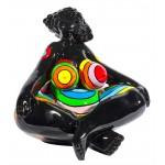 Statua disegno scultura decorativa DONNA EXOTIC LOTUS in resina H40 cm (Multicolore)