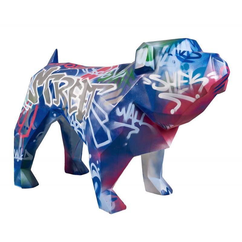 Statue sculpture décorative design CHIEN DEBOUT STREET ART en résine H103 cm (Multicolore) - image 49282