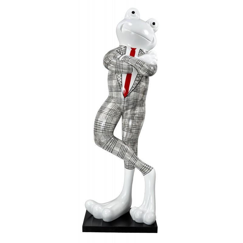 Statue dekorative Skulptur design FROSCHEN DEBOUT aus Harz H180 cm (Schwarz, weiß) - image 49294