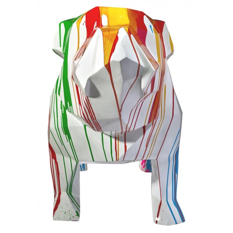 Statue sculpture décorative design CHIEN GEOMETRIQUE en résine H103 cm (Multicolore) - image 49300