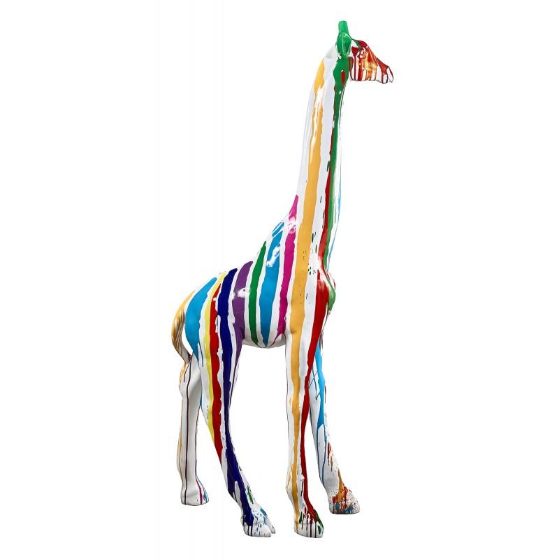 Statue sculpture décorative design GIRAFE TRASH en résine H198 cm (Multicolore) - image 49305